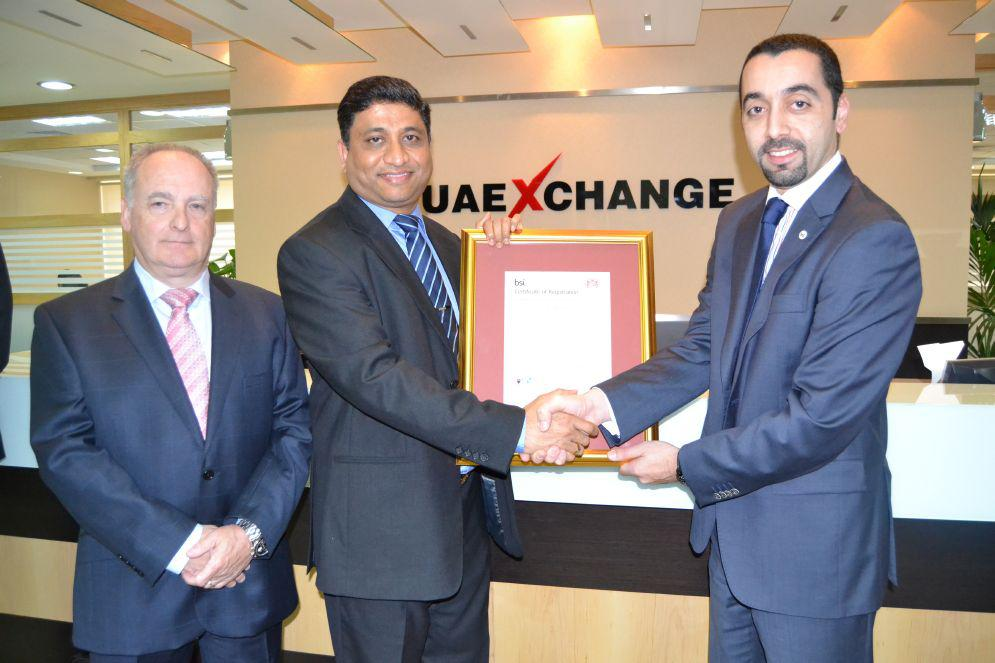 During the ceremony at Country Head Quarters of UAE Exchange