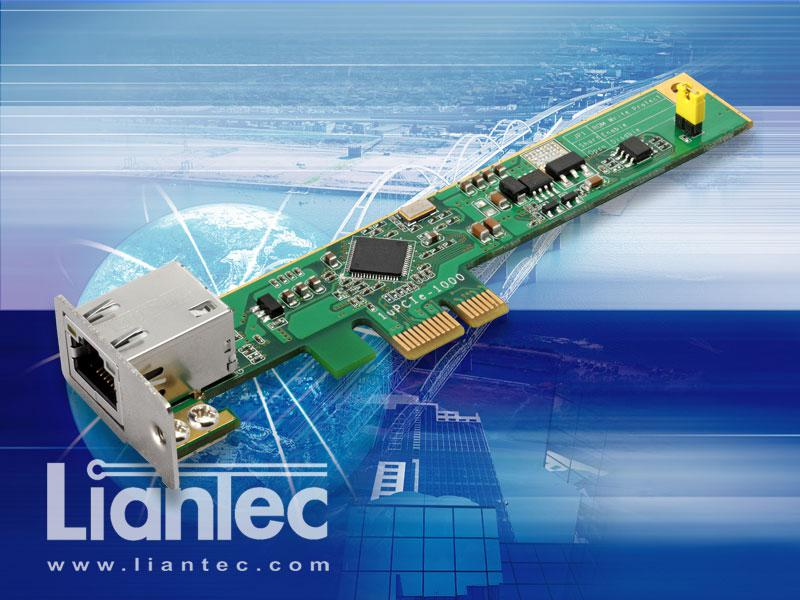 Liantec 1uPCIe-1000 Ultra Low Profile 1U Slim PCI Express Intel Gbit Ethernet Card