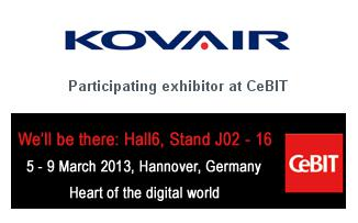 Kovair will be at Hall 6, Stand J02, (16), Indian Pavilion at CeBIT 2013
