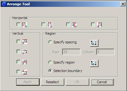 Express Tools of GstarCAD 2012 Extended Version - Arrange Tool