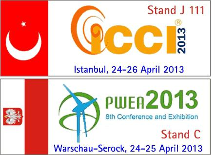 BBB at icci in Istanbul and PWEA near Warsaw
