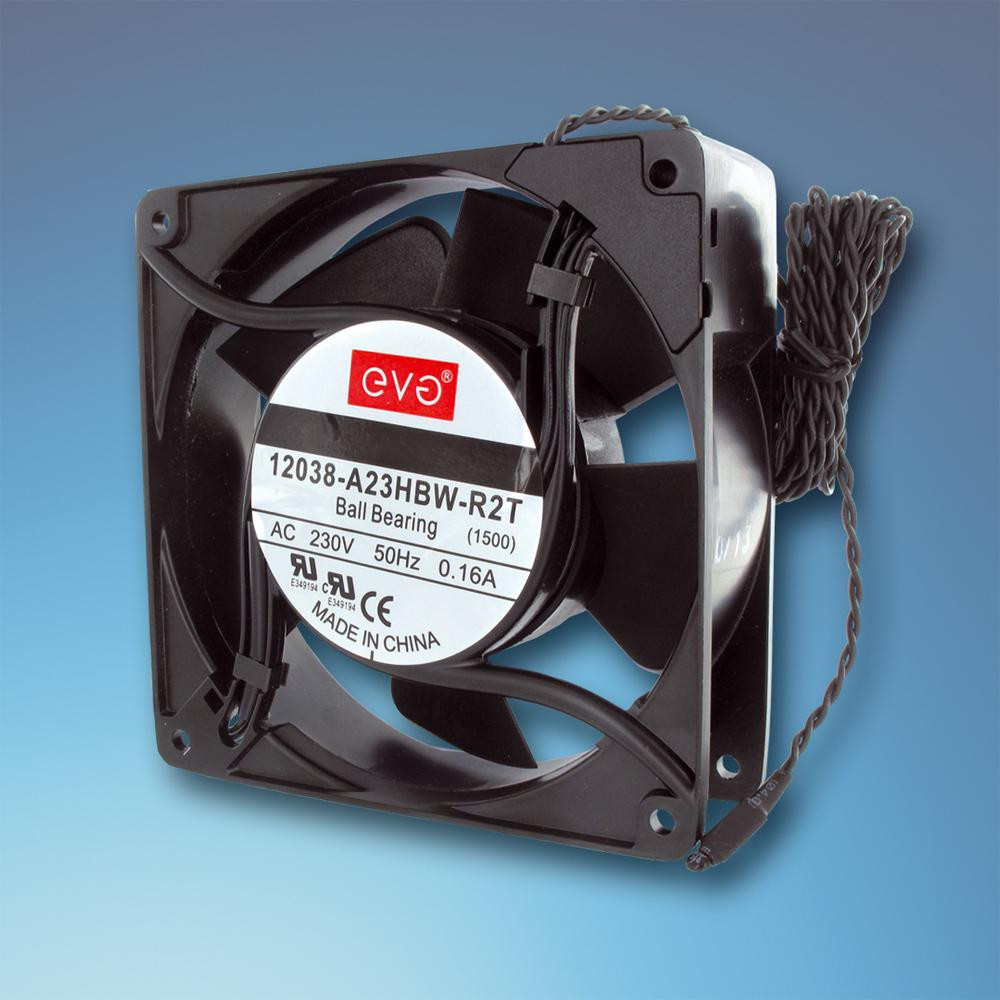 AC axial fan temperature controlled
