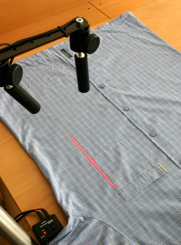 Laser projection on shirt