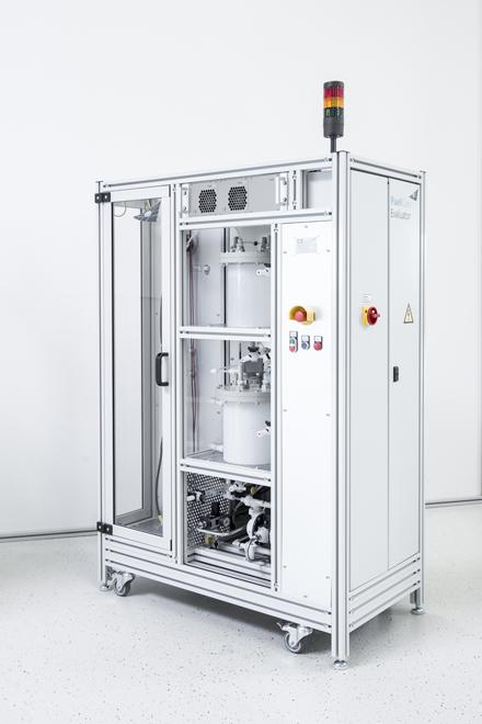 Evaluator test system for zinc-air batteries