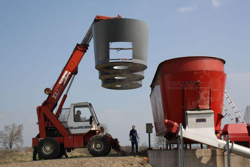 Coated substitution tank for biogas feeding system, Picture: Metallbau Blechinger GmbH