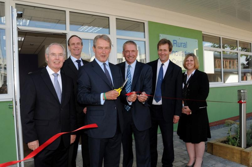 l-r: Sir Peter Rigby (chair of the LEP), Colin Hooper (Stoneleigh Park), Owen Paterson, Alan Cockburn (Warwickshire County Coun