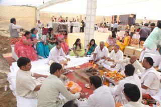 Bhoomi Poojan of  Earth Gracia and Titanium Project
