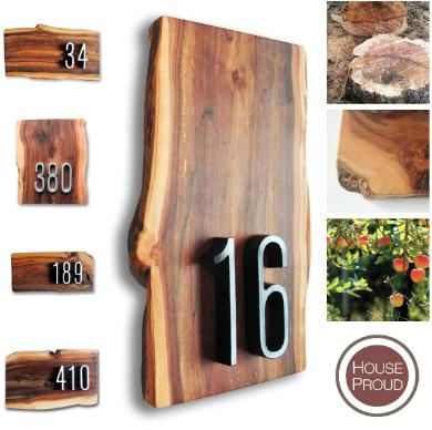 House Proud Signs Introduces Handcrafted Wood House Number