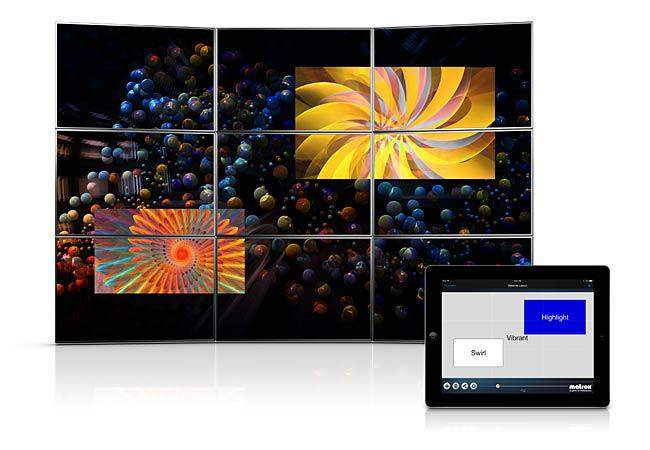 The new Matrox MuraControl for iPad app is optimized for iOS 7 and enables enhanced management of Mura MPX-powered video walls.