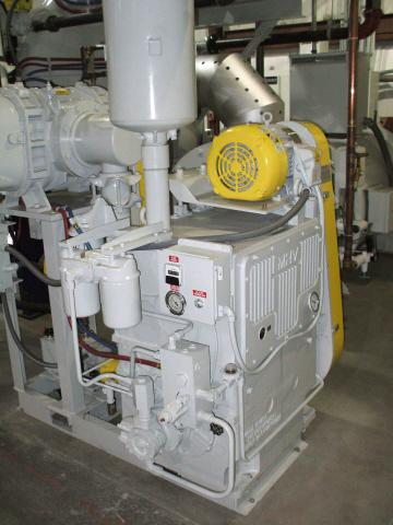 Metallurgical High Vacuum HD300 Survivor pumps down the furnace from atmosphere; its pressurized oil system includes filtration