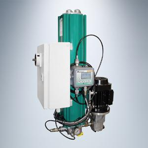 Combined offline filter with built-in motor/pump unit and pre -installed particle monitor