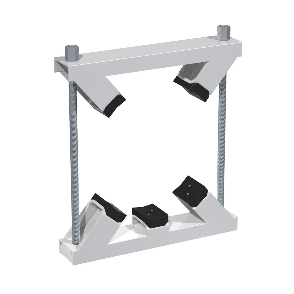 Stauff clamps from Construction Series with 5 plastic pipe saddles made of polyamide