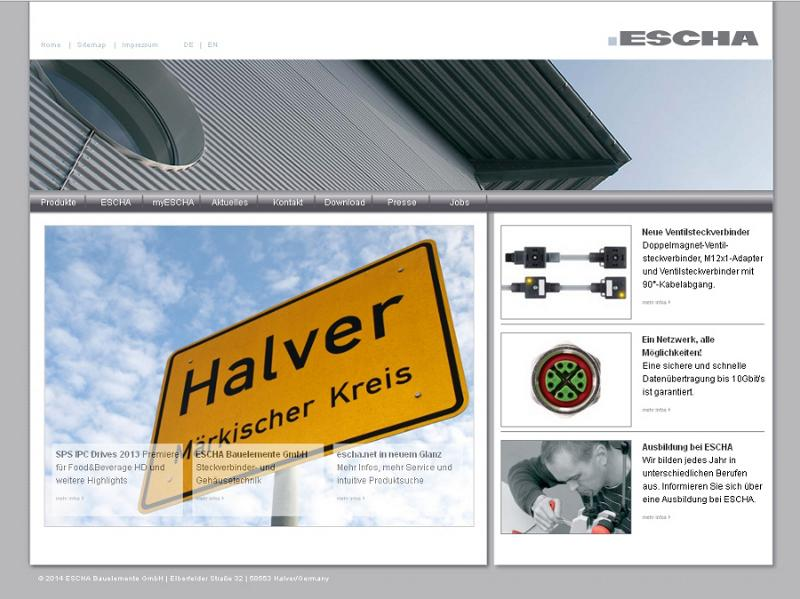 New ESCHA website.