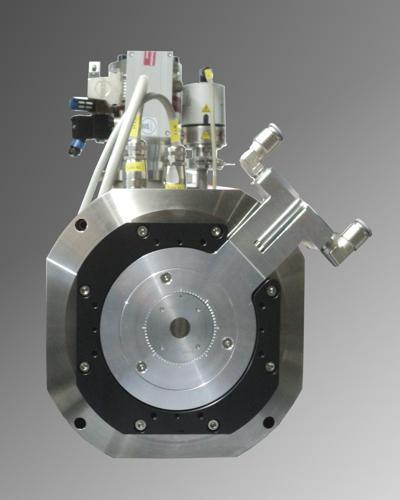 New High Energy transmission target with internal cooling