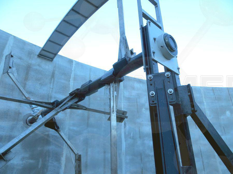 Paddle mixer for biogas fermenter with Ceramic Polymer coating