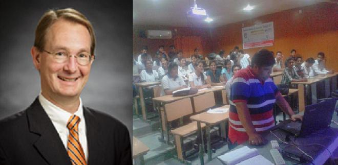 Sangam University - Talk on Business Plan Guidelines by Spears School of Business Distinguished Professor Richard Gajan