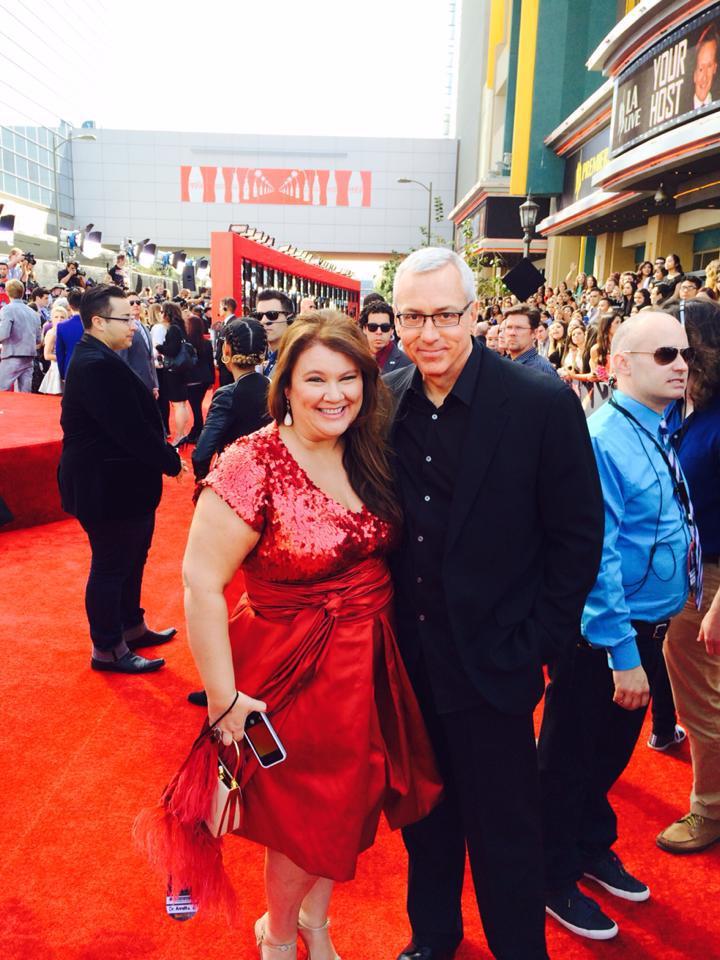 Annette Ermshar, Ph.D., and Dr. Drew Pinsky on the red carpet at the MTV Movie Awards.