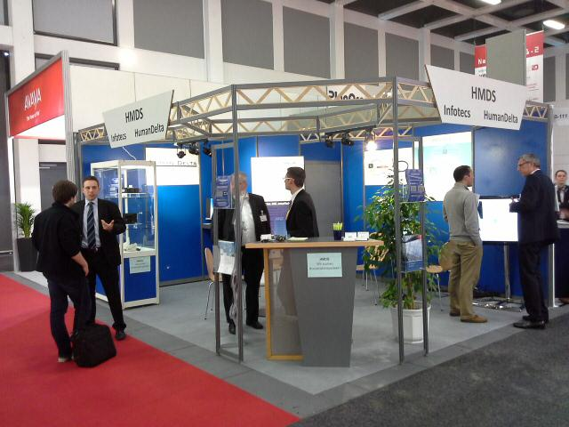 conhIT 2014: Various discussions with customers at the booth of HMDS and Infotecs