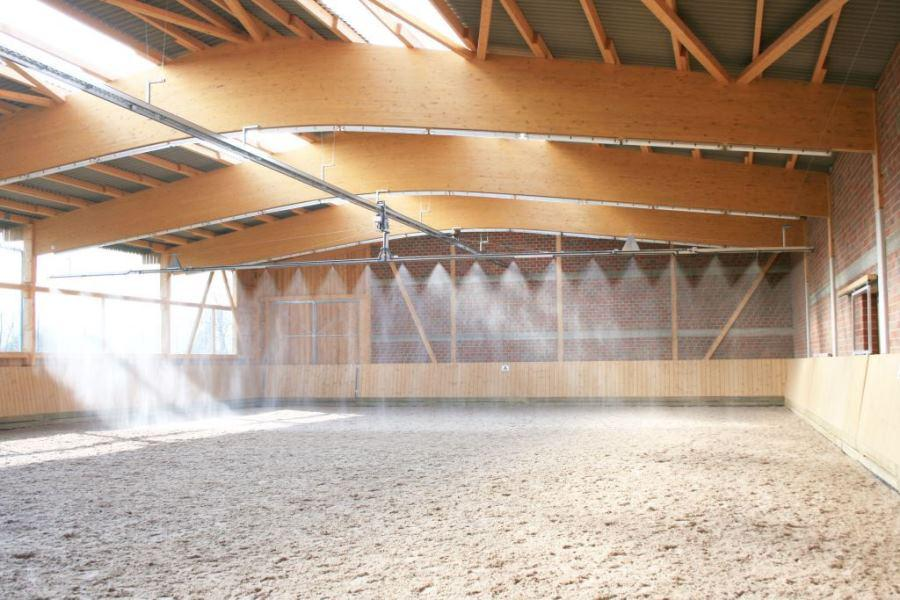 Bowe irrigation system for indoor riding arenas