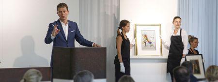 """Auctioneer Robert Ketterer selling W. Kandinsky's """"Gewebe"""" for the remarkable result of € 1,320,000*"""