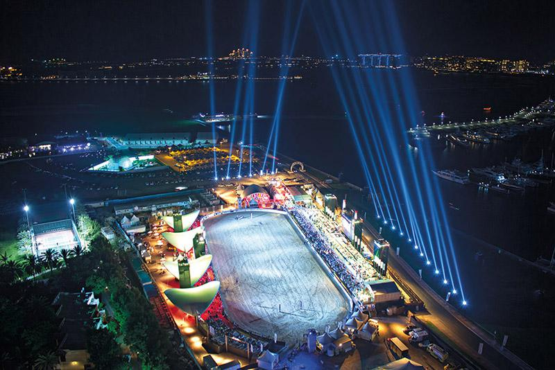 A&O Technology provided special effects for Beach Polo Cup Dubai lightshow, © mamemo productions