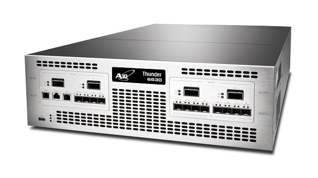 A10 Networks' Thunder 6630 that received a special award at  Interop Tokyo 2014 Best of Show Awards