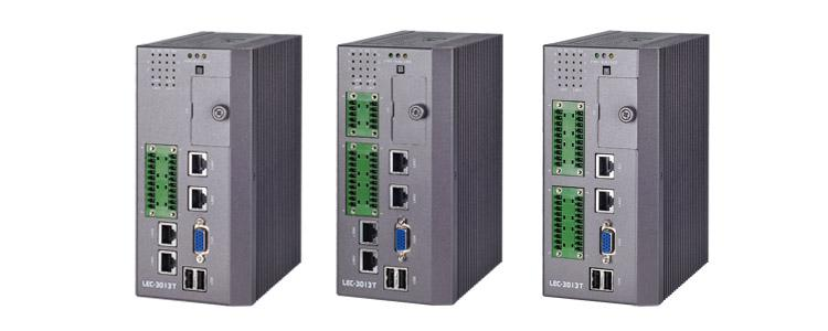 DIN Rail Industrial Communications Computer with Wide