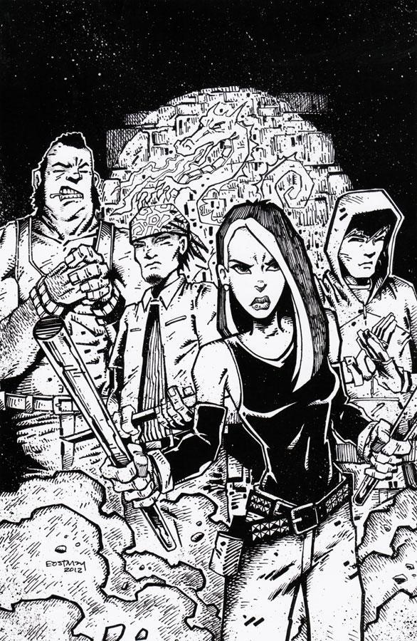 Teenage Mutant Ninja Turtles Original Cover artwork by Kevin Eastman - IDW Publishing TMNT #11Cover B