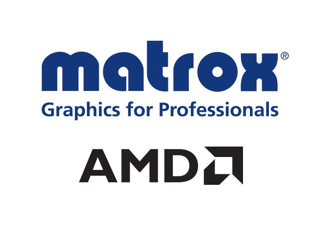 Matrox selects AMD GPU for its next line of multi-display graphics cards.