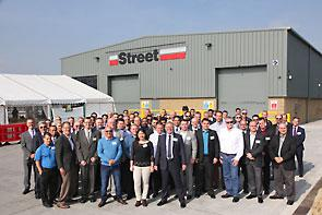 Distributors from 48 countries join Street Crane at the opening of new £3 million hoist production unit.