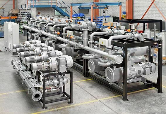 Centralised vacuum plant for food packaging
