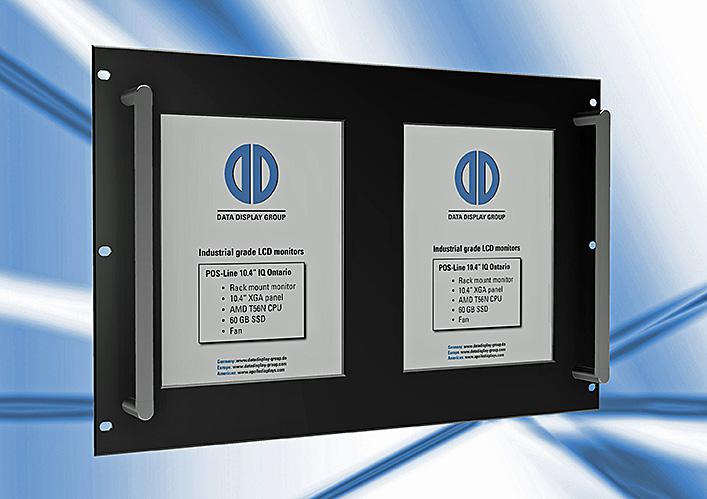 Distec's industrial LCD monitors optimized for use in 19 inch racks