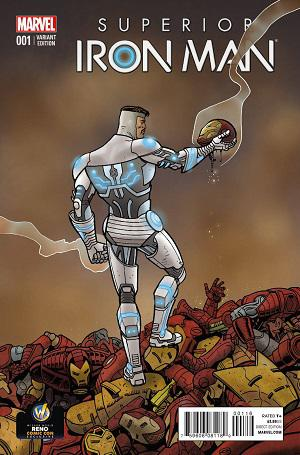 Superior Iron Man #1 LE Exclusive Variant Cover by Ty Templeton
