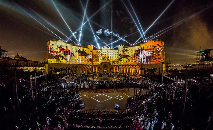 Multimedia spectacle for the 82nd Saudi National day, Photo: © Ralph Larmann on behalf of A&O Technology / A&O Creative Director J