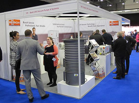 Busch stand at the Vacuum Expo 2014 in Coventry