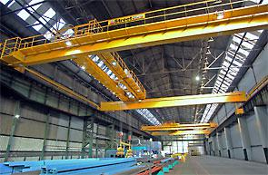 Tata's refit includes four 12 tonne overhead cranes from Street to improve material processing.