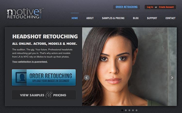 The Motive Retouching homepage