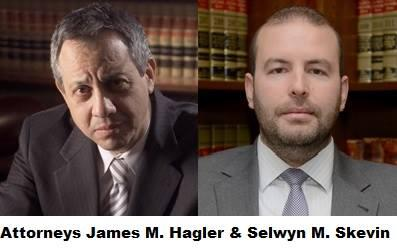 Attorneys James M. Hagler and Selwyn M. Skevin from the Law Offices of Jeffery M. Leving, Ltd.