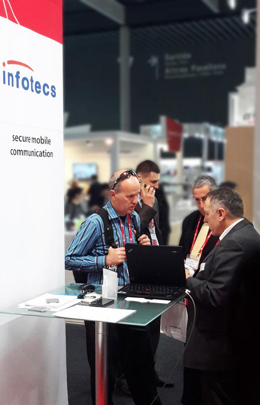 MWC 2016: Josef Waclaw explains the ViPNet Mobile Security solution to interested customers