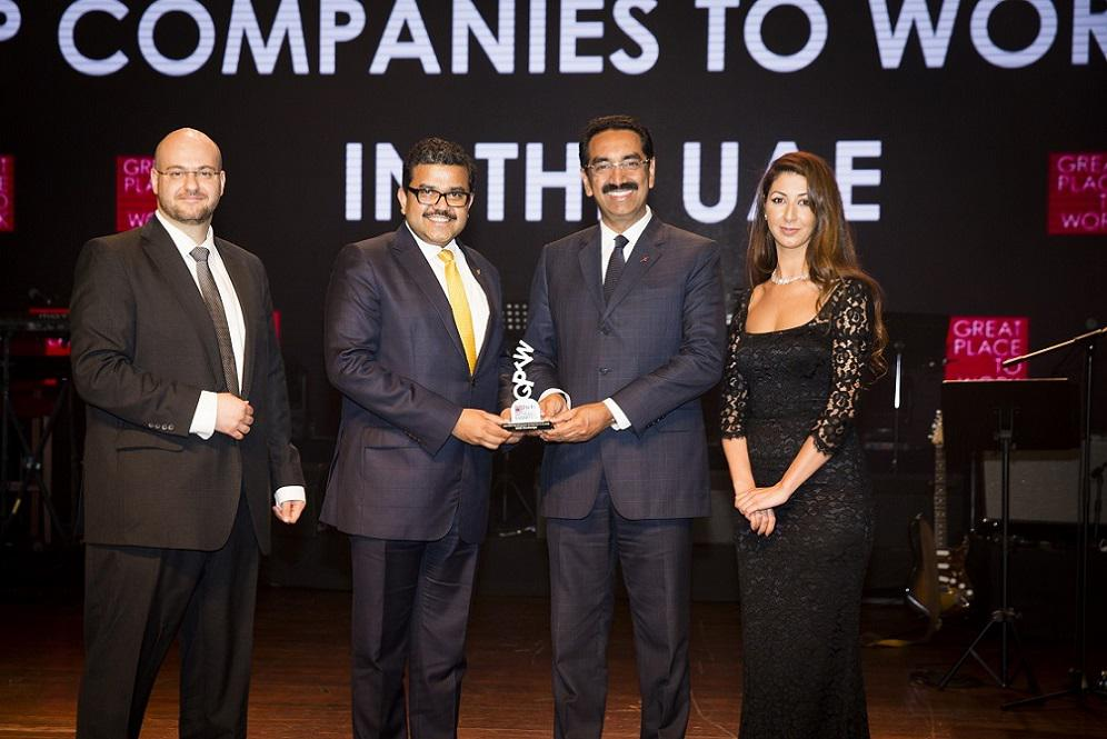 UAE Exchange receiving the Great Place to Work Award