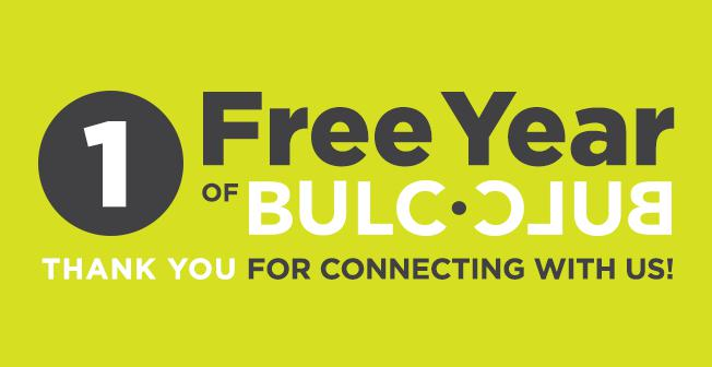 Follow @BulcClub and get a year of Bulc Club Annual Membership ($99 value) absolutely free!