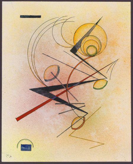W. Kandinsky, Kleines Warm, 1928. Watercolor/India ink drawing, 11.7 x 9.4 in. EUR 400,000-600,000