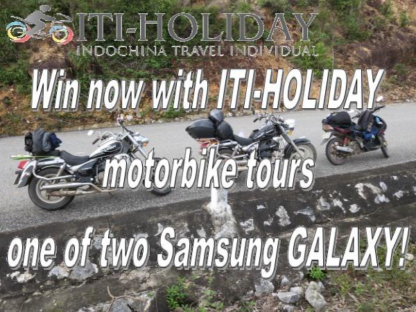 Motorbike Tours Vietnam - win one Samsung GALAXY