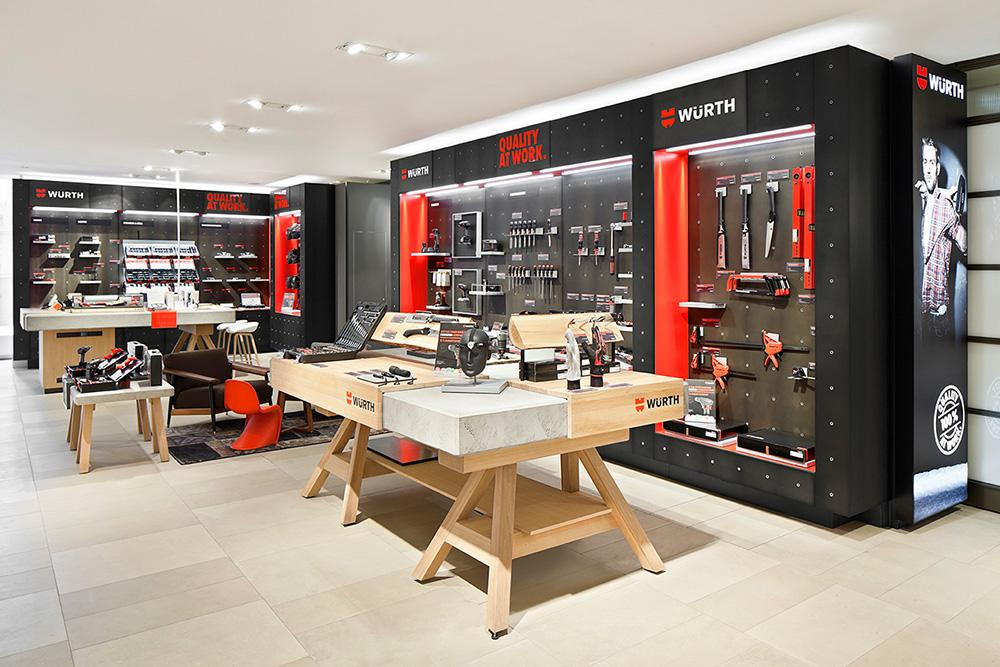 With the opening of the first temporary brand store at Breuninger in Stuttgart, the brand Würth strikes a new path.