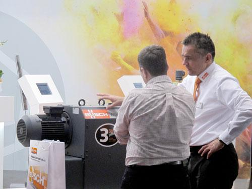 There was a strong response to the new Mink MV claw vacuum pumps at the Busch trade show stand at Powtech 2016