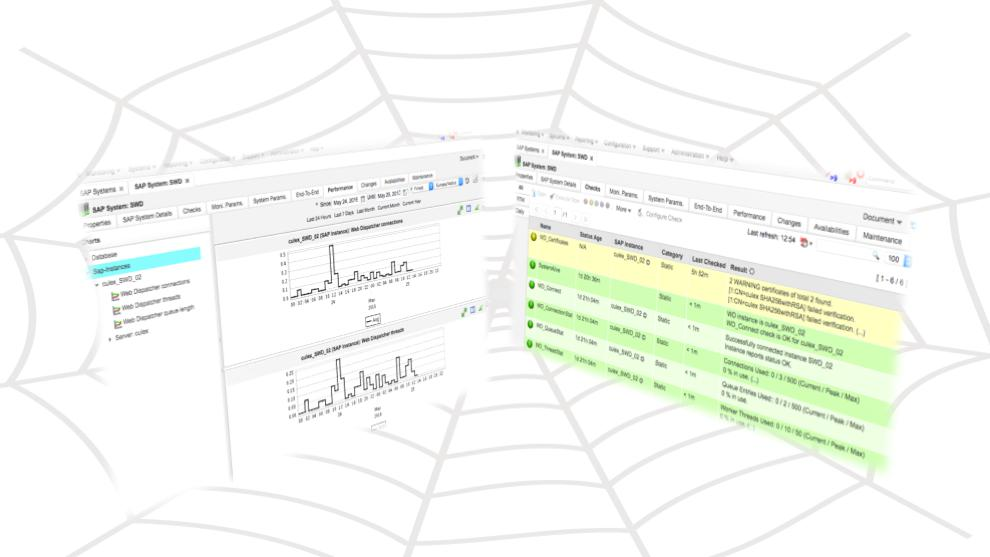 syslink Xandria 6 monitors SAP Web Dispatcher