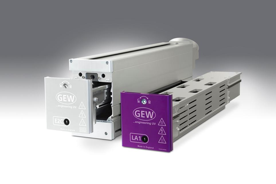LA1 aircooled LED UV curing system by GEW