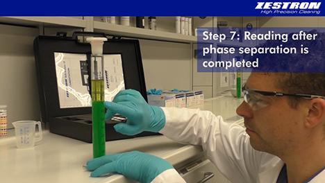 Videotutorial for manual cleaner concentration measurement  (Copyright ZESTRON)