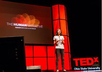 Abdalkhani speaking at TEDx