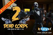 Dead Corps 2 video game. Saving humanity one zombie at a time. By Disrupted Logic Interactive Inc uses the ctalyst™ technology.